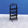 Dollhouse Miniature Baker's Rack, Black