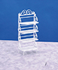 Dollhouse Miniature Baker's Rack White