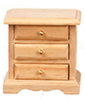 Dollhouse Miniature Night Stand, Oak
