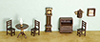 Dollhouse Miniature1/4 In. Living Room Set, 9 Pc