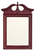 Dollhouse Miniature Mirror, Mahogany