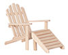 Dollhouse Miniature Adirondack Chair, Unfinished