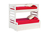 Dollhouse Miniature Bunkbed with Trundle, White