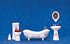 Dollhouse Miniature Bath Set, 5 pc