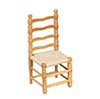 Dollhouse Miniature Side Chair, Oak