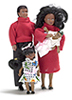 Dollhouse Miniature Modern Black Family/4