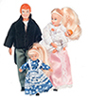 Dollhouse Miniature Victorian Family/4, Blonde