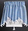 Dollhouse Miniature Curtains: Long Swag, Blue