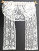 Dollhouse Miniature Double Window Drape, White Lace