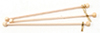 Dollhouse Miniature Rods W/Eyes, 3 Pack- 4