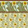 Dollhouse Miniature Wallpaper: Sunflower