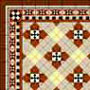 Dollhouse Miniature Wallpaper: Victorian Tile