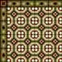 Dollhouse Miniature Wallpaper: Encaustic Tile