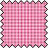 Dollhouse Miniature Silk Fabric: Checkers - Red