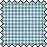 Dollhouse Miniature Silk Fabric: Checkers - Blue