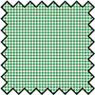 Dollhouse Miniature Silk Fabric: Checkers, Green