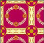 Dollhouse Miniature Rug: Empire Red