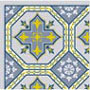Dollhouse Miniature Rug: Josephine Blue