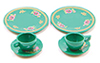 Dollhouse Miniature Dinnerware Set-Green