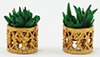 Dollhouse Miniature Small Filigree Planters