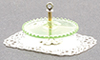 Dollhouse Miniature Tidbit Server, Green