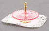 Dollhouse Miniature Tidbit Server, Pink