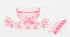 Dollhouse Miniature Punch Set, Pink
