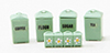 Dollhouse Miniature Canister Set, Jadeite