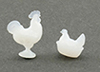Dollhouse Miniature Rooster And Nesting Hen