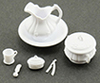 Dollhouse Miniature Chamber Pot Set, 9/Pc
