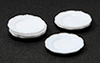 Dollhouse Miniature Dinner Plates, 12Pc/White