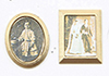 Dollhouse Miniature Gold Framed Sepia Photos, 2/Pc