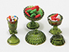 Dollhouse Miniature Candy Dishes W/Candy