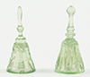 Dollhouse Miniature Dinner Bells, 2Pc, Green