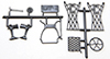 Dollhouse Miniature Kit: Sewing Machine Parts