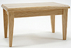 Dollhouse Miniature Kitchen Table, Oak