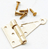 Dollhouse Miniature T-Hinges, Brass 2Pr with 24 Nails