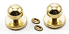 Dollhouse Miniature Door Knob With Keyhole, 4/Pk