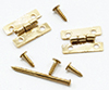 Dollhouse Miniature Flush Hinges With Nails, 4/Pk