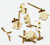 Dollhouse Miniature Offset Hinges With Nails, 6/Pk