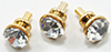 Dollhouse Miniature Crystal Door Knob, 6/Pc