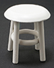 Dollhouse Miniature Stool, White
