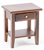 Dollhouse Miniature Night Stand, Walnut