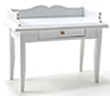 Dollhouse Miniature Desk, White