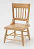 Dollhouse Miniature Chair, Oak