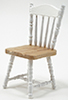 Dollhouse Miniature Chair, Oak/White