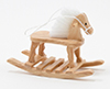 Dollhouse Miniature Rocking Horse, Oak