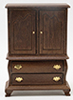 Dollhouse Miniature Armoire, Walnut