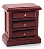 Dollhouse Miniature Night Stand, Mahogany