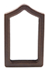 Dollhouse Miniature Framed Mirror, Walnut